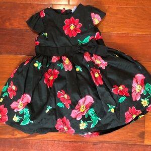 Baby girl black flowers dress